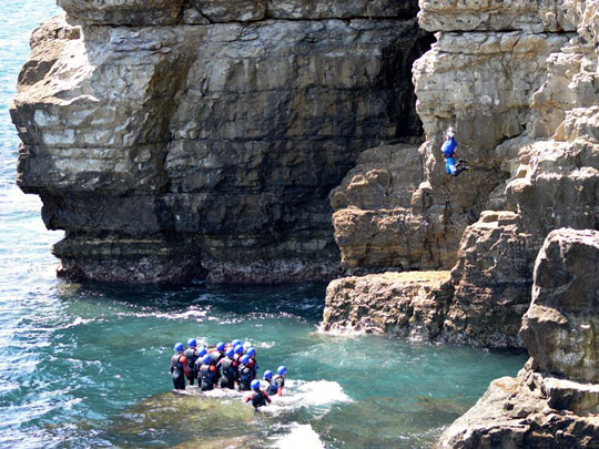 Coasteering Hen Party Adventure in Dorset