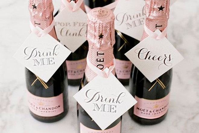 Mini Champagne Favours Are A Sure Thing As You Can Create Your Own Personal Message For Each Of Hens Favour Be Or Sweet