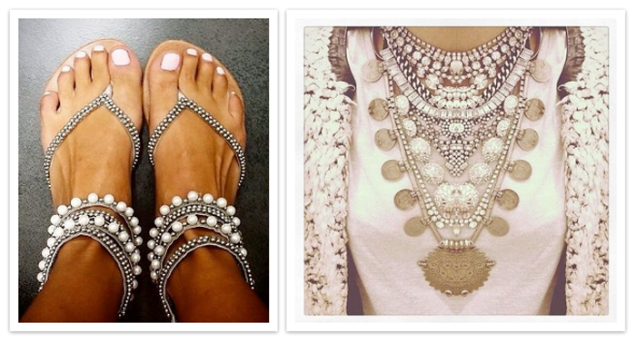 Accessories Are Everything When It Comes To Nailing Boho Chic So Make Sure You That The Max With Chunky Statement Pieces