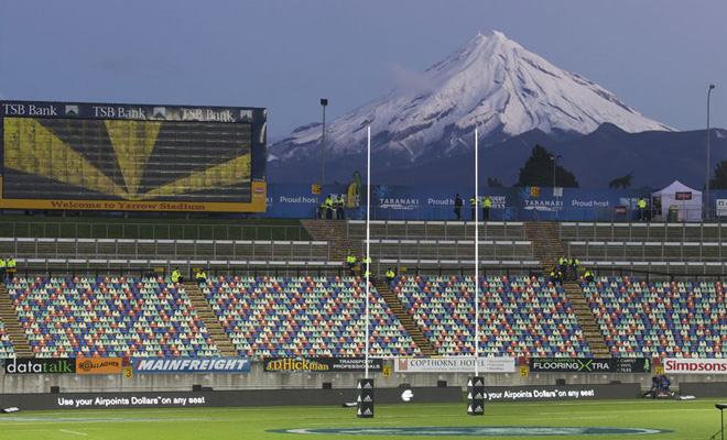 Yarrow Stadium in New Plymouth