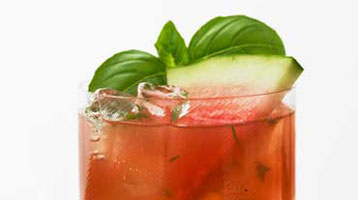 Basil Watermelon Cooler Cocktail Recipe